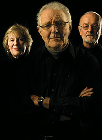 (From left) Shirley Venard, Charles Nolte, and Bill Semans. Photo by Ann Marsden