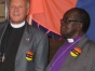 Bishop Christopher Senyonjo and Canon Albert Ogle ( St. Paul 's Foundation in Uganda and the U.S. respectively). Photo by Jim McGowan.