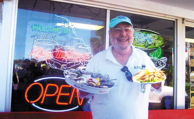 Al Sawyer, owner of King Neptune, shows off Red Royals. Photos by Carla Waldemar