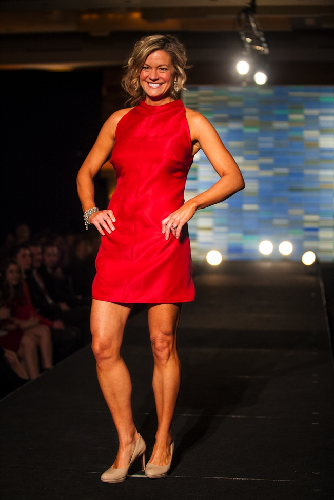 Julie nelson kare 11 pregnant fashion red dress collection 2014